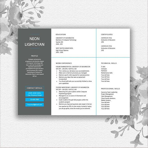 Pin by Totemjustine on Graphic design Pinterest Resume template - microsoft word letter template download