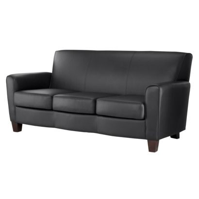 Nolan Bonded Leather Living Room Sofa Black Matte Rating 1 Out Of 5 Stars 1 Reviews 239 98 Leather Sofa Living Room Target Living Room Living Room Sofa