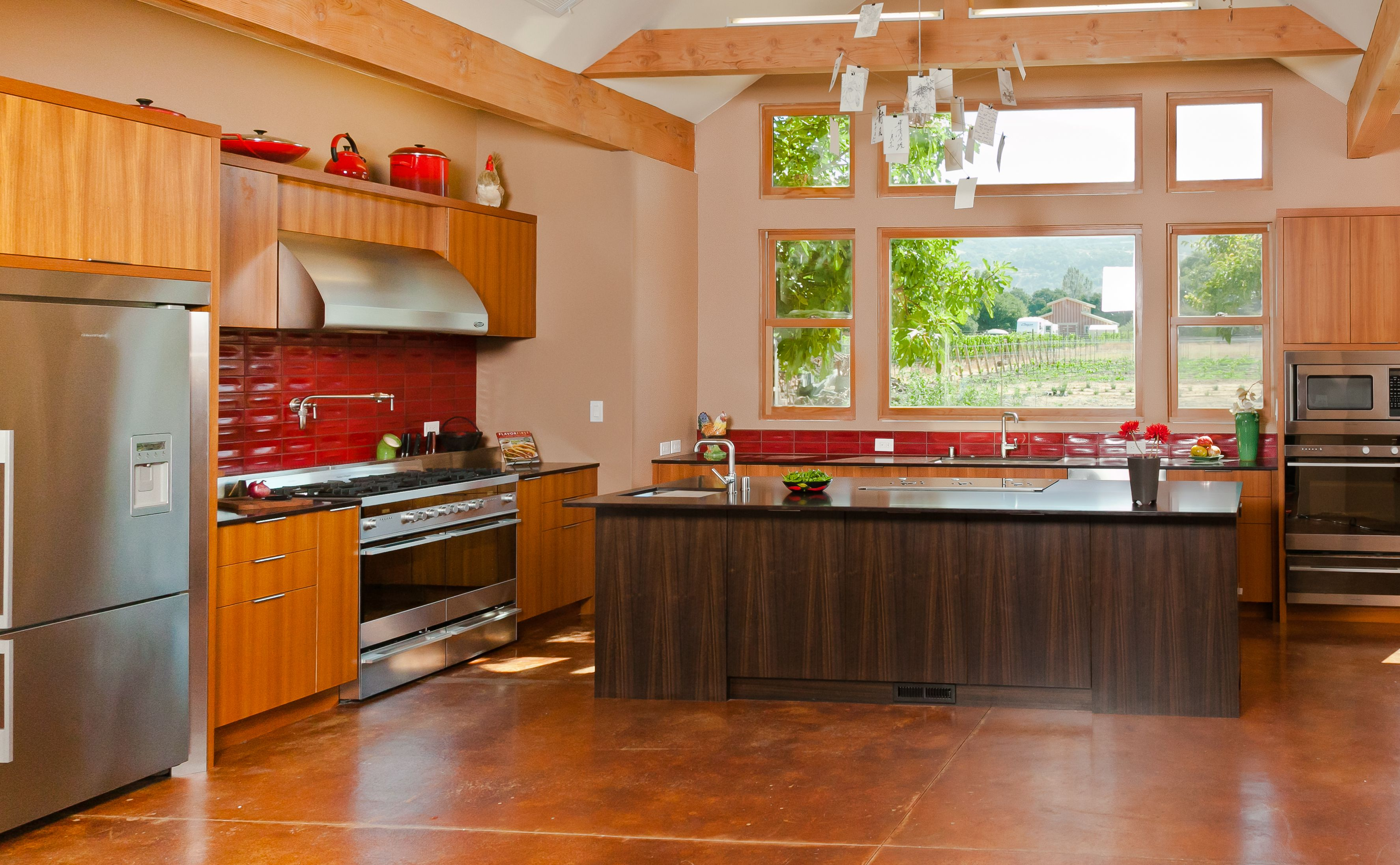 My fave photo of the kitchen (and the farm!) | Custom ...