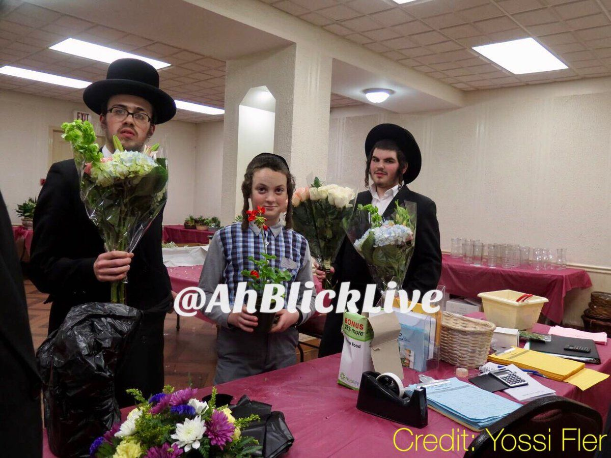 Kids In New Skver Getting Ready For Shavuos