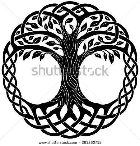 Wall tattoo sticker tree of life Yggdrasil World tree tree tree wall sticker Celtic symbol Celts healing family