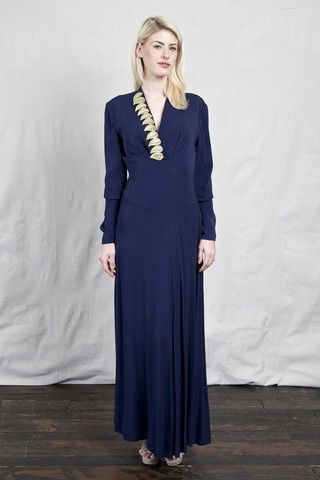Blue 40s Gown – The Vintage Buffalo