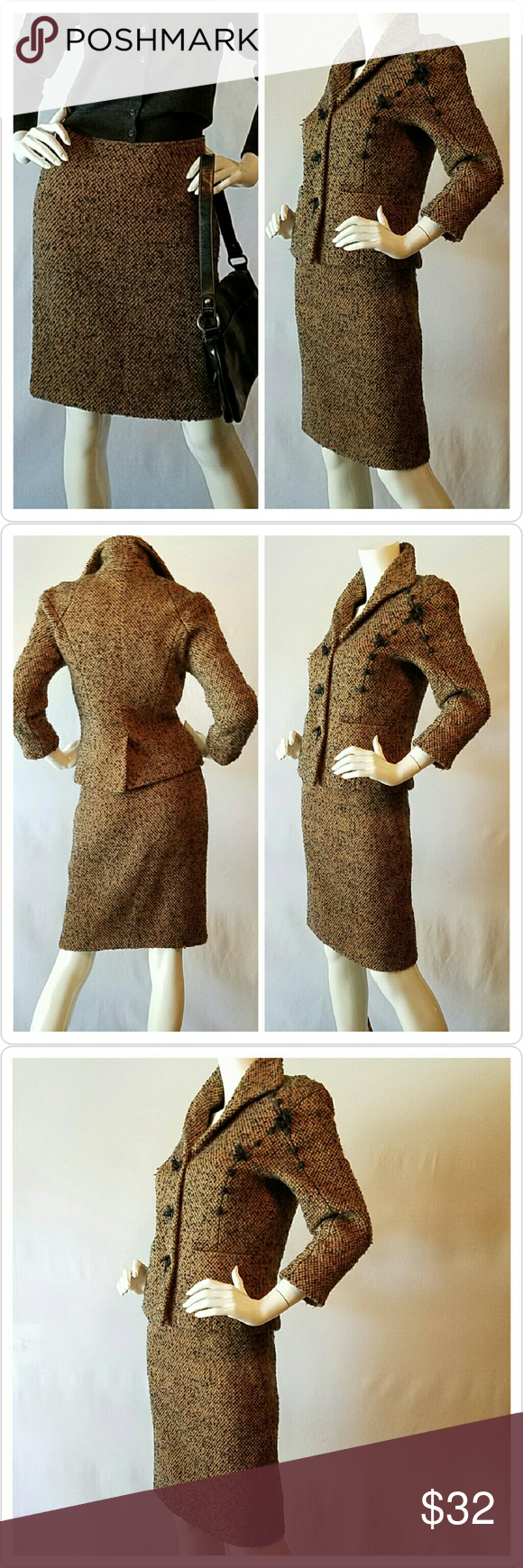 """Max Studio Pencil Skirt MAX STUDIO """"Special Collection"""" boucle pencil skirt. Jacket is also available for purchase. Fully lined.  Both were part of limited collection. Excellent condition. Amazing fit and construction.   Approx 21inches long, waist 14inches measured flat, hips 18inches measured flat. Max Studio Skirts Midi"""