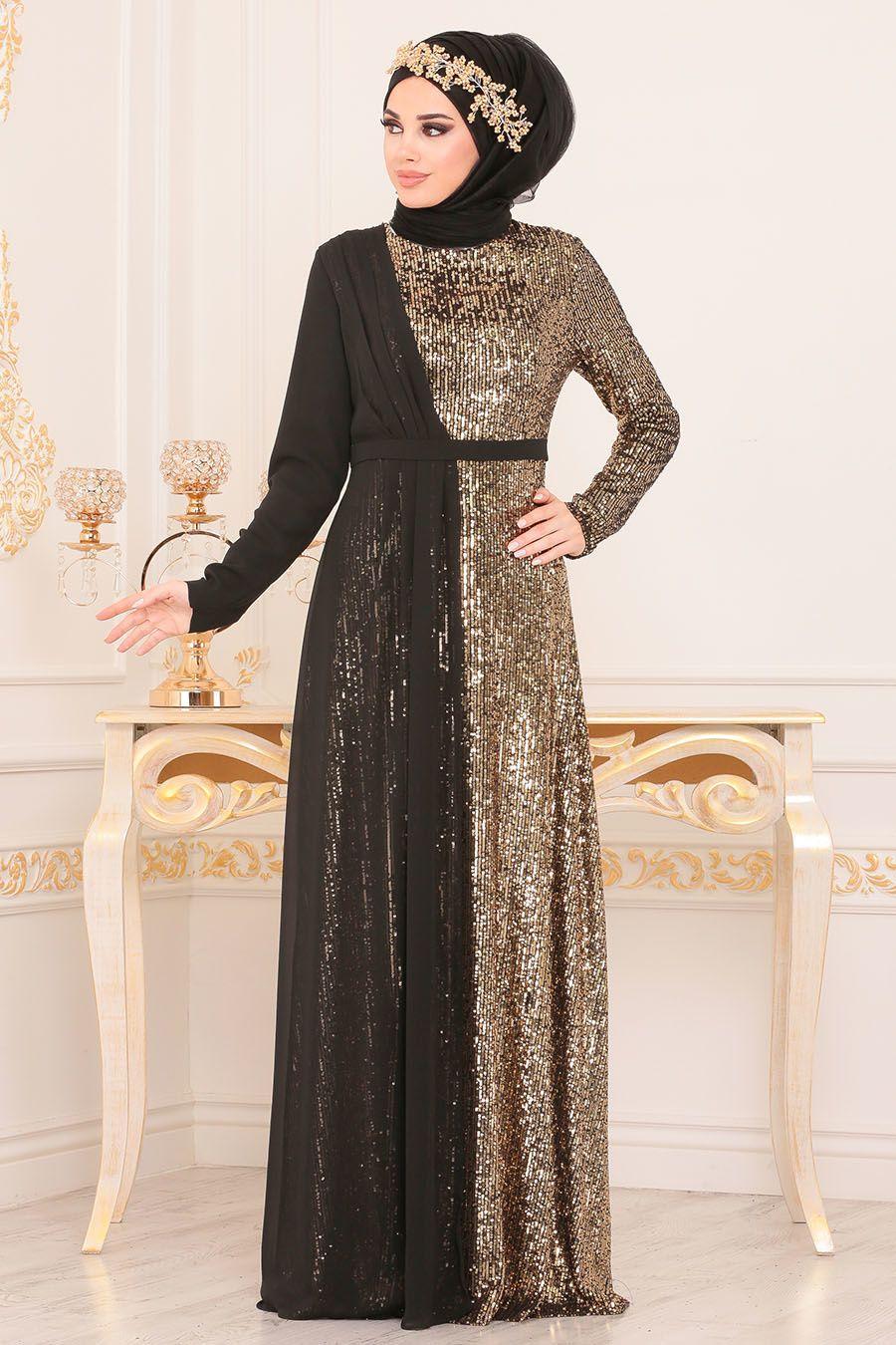 Tesetturlu Abiye Elbise Pul Payetli Gold Tesetturlu Abiye Elbise 85590gold Tesetturisland Com Moda Stilleri Elbise Kiyafet