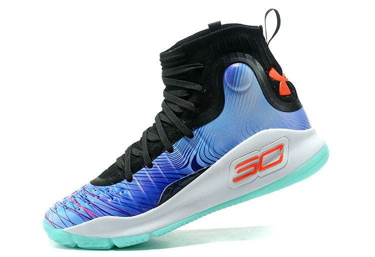 f40f3695965 Genuine Big Boys Youth Under Curry 4 China Exclusive Colorway Ice Blue  Orange Green Glow