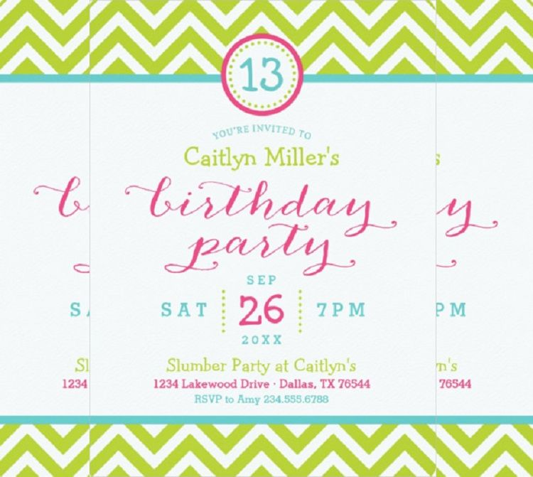 Pink Birthday Invitation Email Template Templates Free Resume