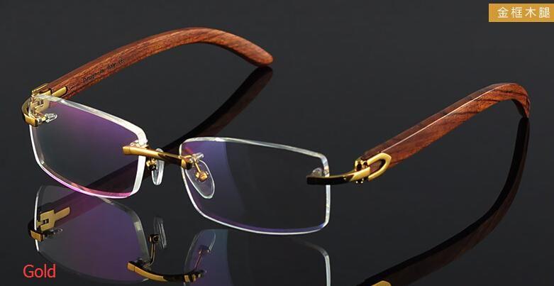 Mens Eyeglasses No Frame : wooden feet mens rimless eyeglass frames High-end business ...