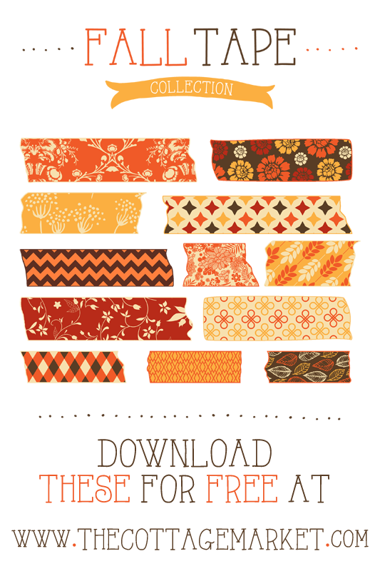 Free Fall Digital Washi Tape Collection The Cottage Market Washi Washi Tape Projects Washi Tape