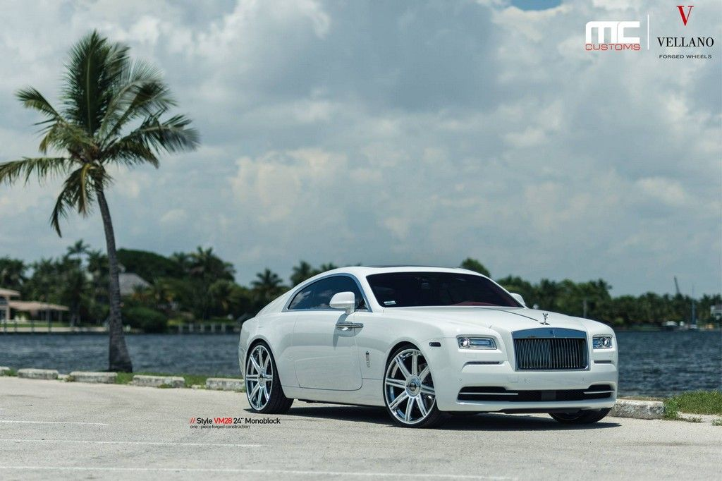 rolls royce wraith white. white rollsroyce wraith looks stunning on vellano 24s motorward rolls royce