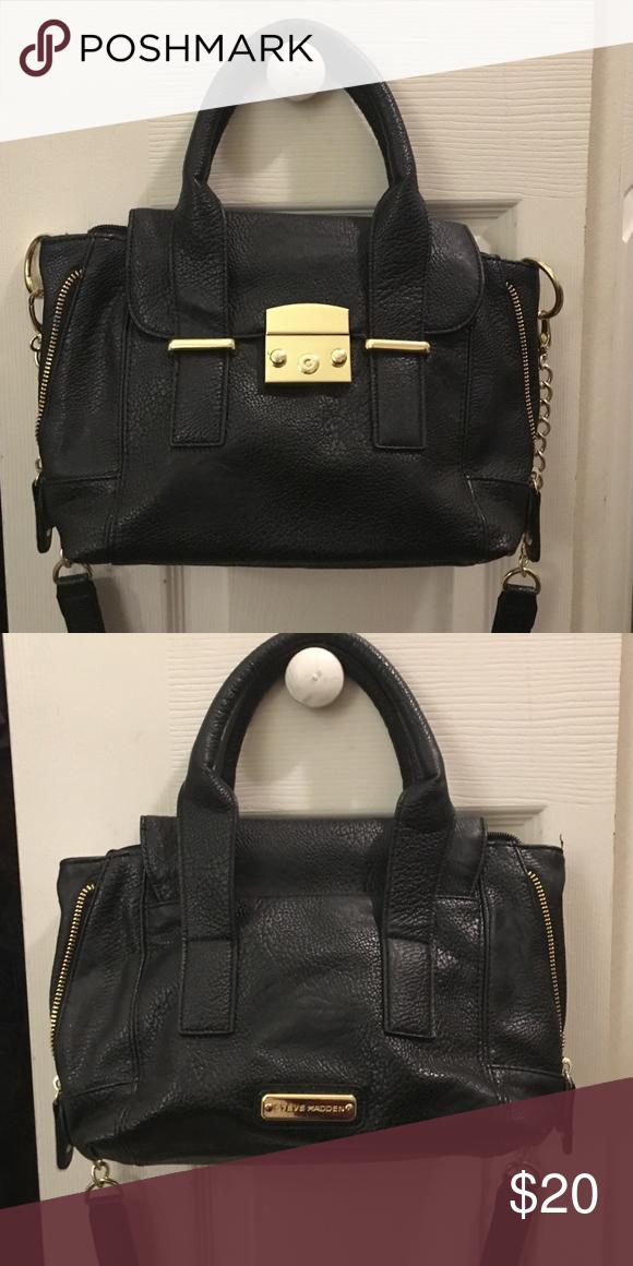 a518b591126 Steve Madden purse Black handbag with cross body strap Steve Madden ...