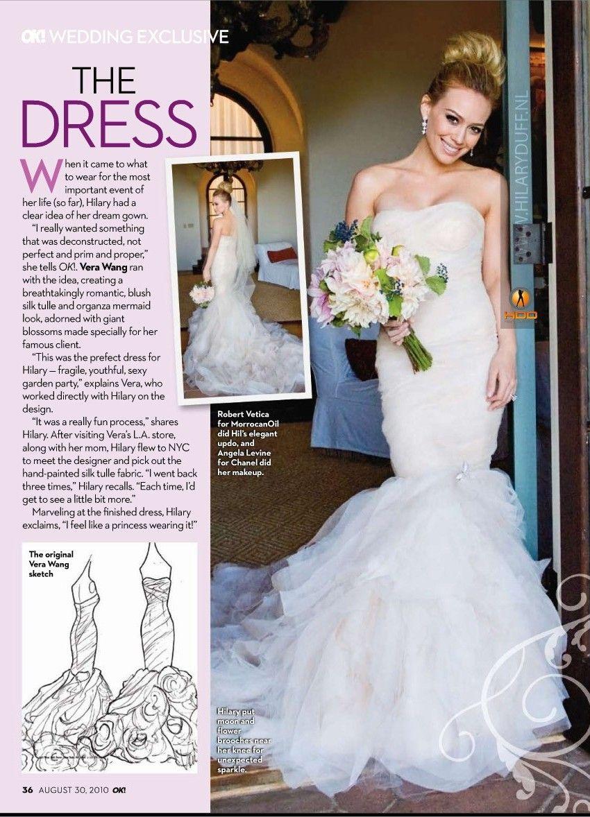 Hilary Duff Wedding Celebrity Wedding Dresses Hilary Duff Wedding Dress Wedding Dresses Vera Wang [ 1178 x 850 Pixel ]