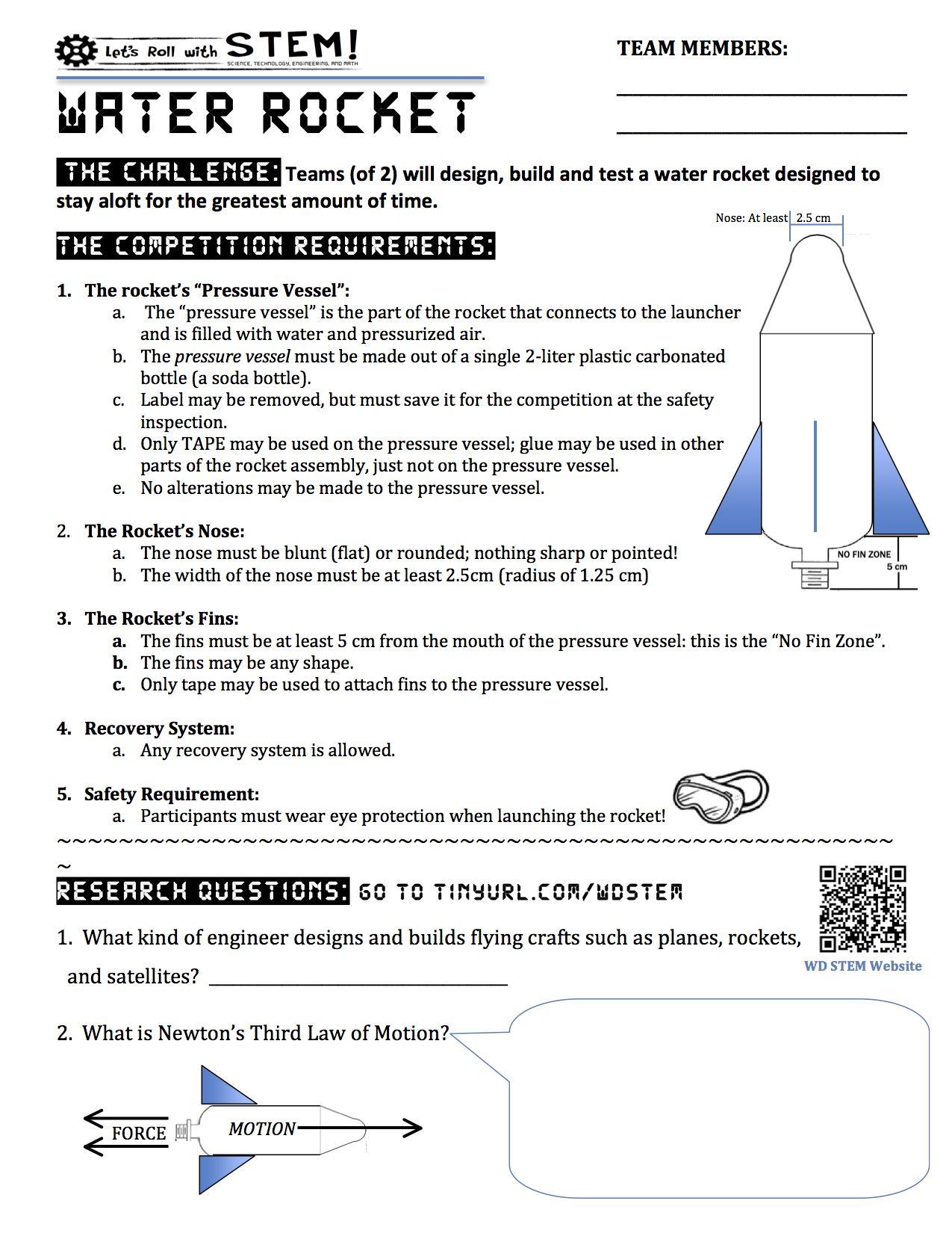 Water Rockets Wd Stem Water Rocket Carolina Science Middle School Science