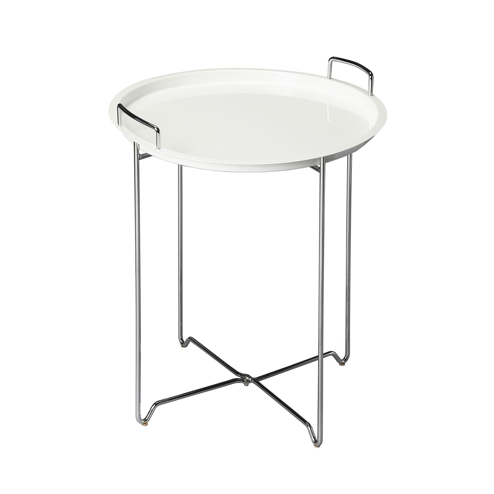 You can eat off it, store things on it, and move it around your home in a snap. And the white color makes it a summertime classic.  Find the Stand and Deliver Tray Table, as seen in the Summer in the City Collection at http://dotandbo.com/collections/summer-in-the-city?utm_source=pinterest&utm_medium=organic&db_sku=89830