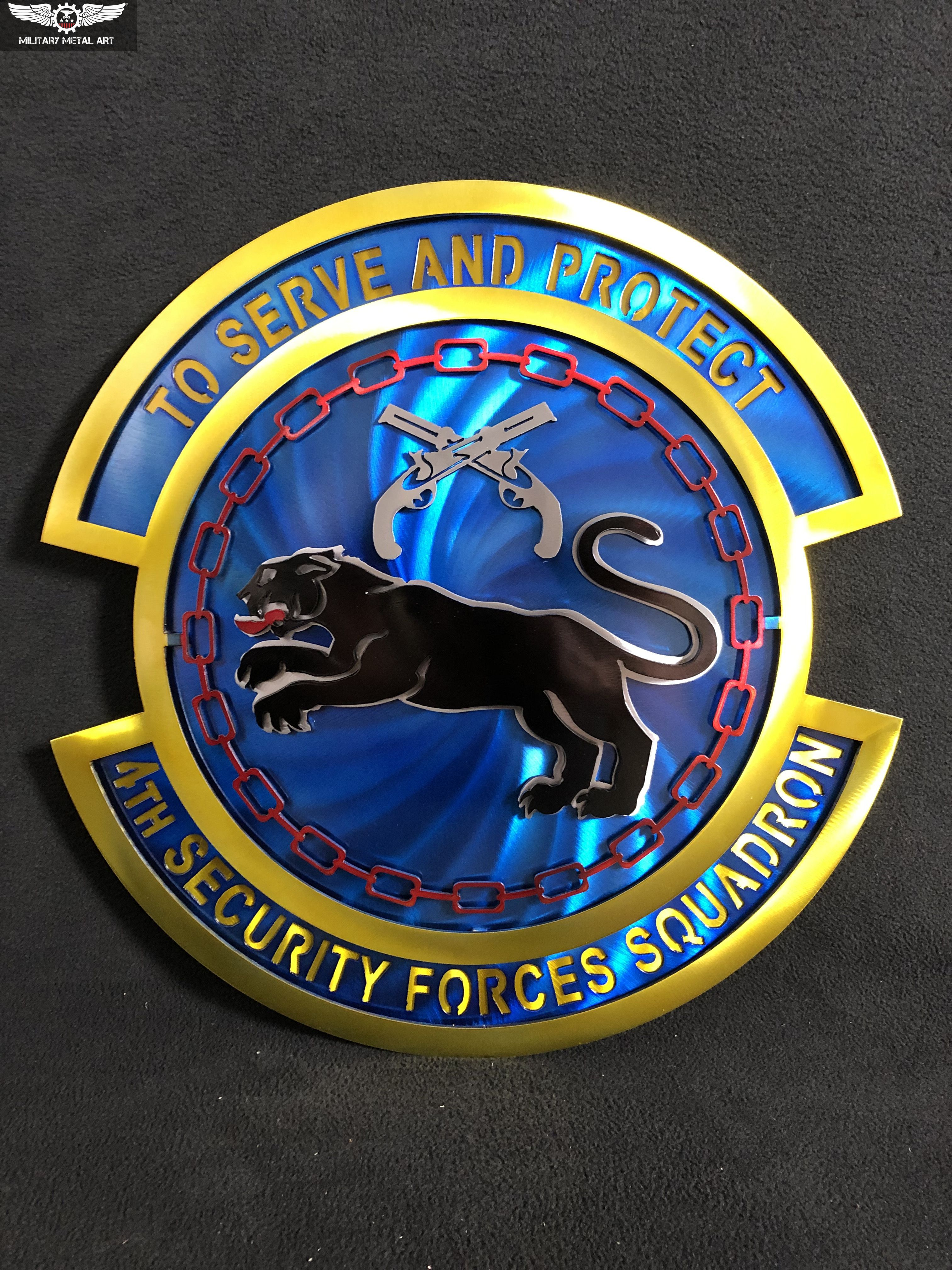 4th Security Forces Squadron Military Artwork Metal Art Art