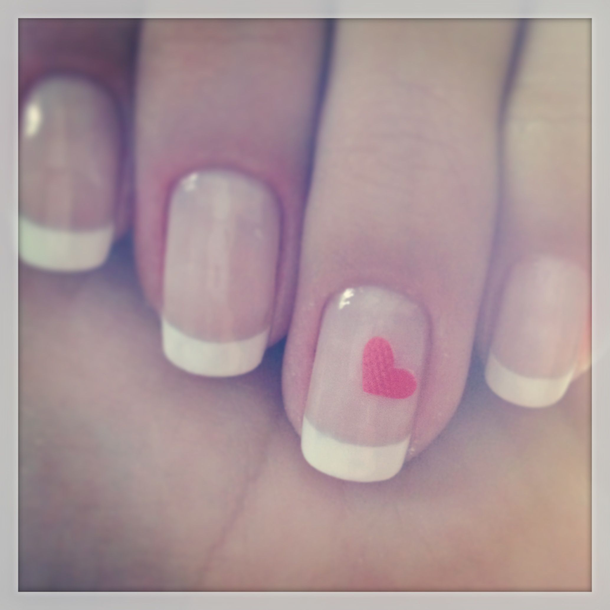 French nails with ❤