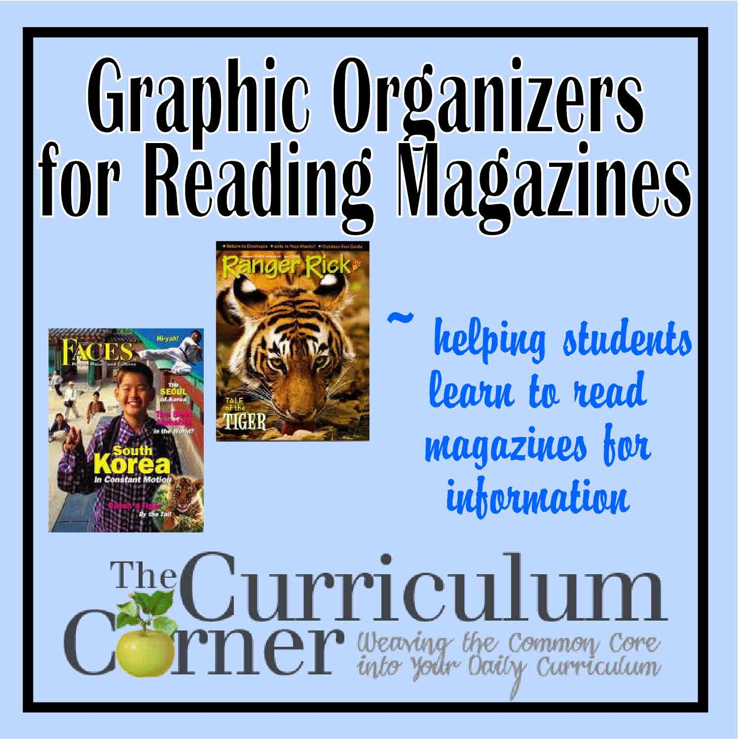 Graphic Organizers For Reading Magazines
