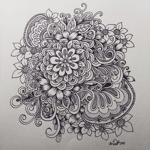 Flower Cluster Doodle Kc Doodle Art Doodles
