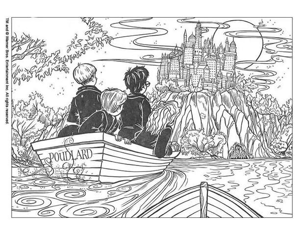 Harry Potter Coloring Page Print Harry Potter Pictures To Color