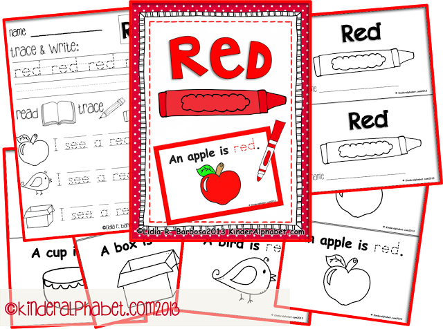 free printables for the color red by teaching colors kindergarten colors. Black Bedroom Furniture Sets. Home Design Ideas