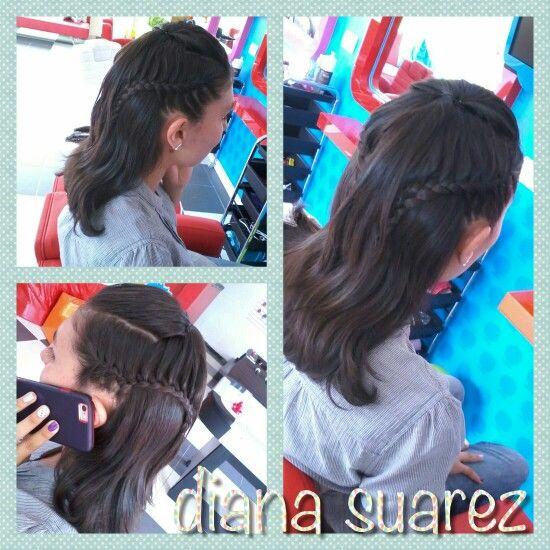 Semi recogido cabello corto