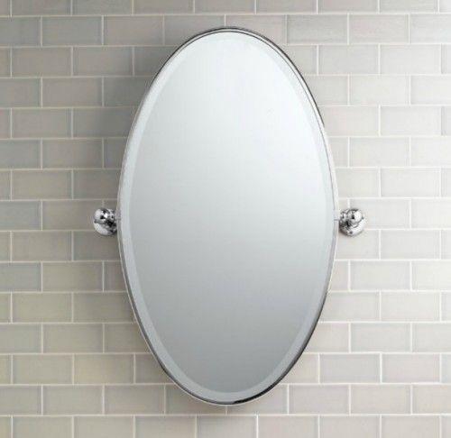 Vintage Oval Pivot Mirror Traditional Bathroom Mirrors Oval