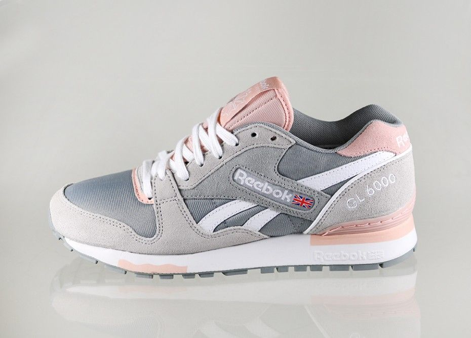 2a6f509fb85a3 Reebok GL 6000 Athletic (Flat Grey   Steel   Coral Glow   White ...