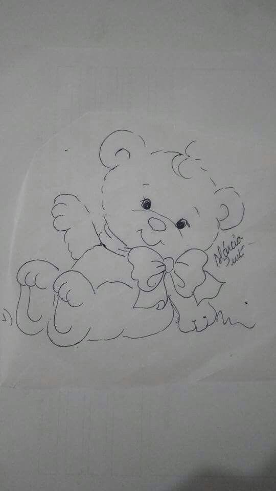 Pintura urso   riscos para bordado e pintura   Pinterest   Schablone ...