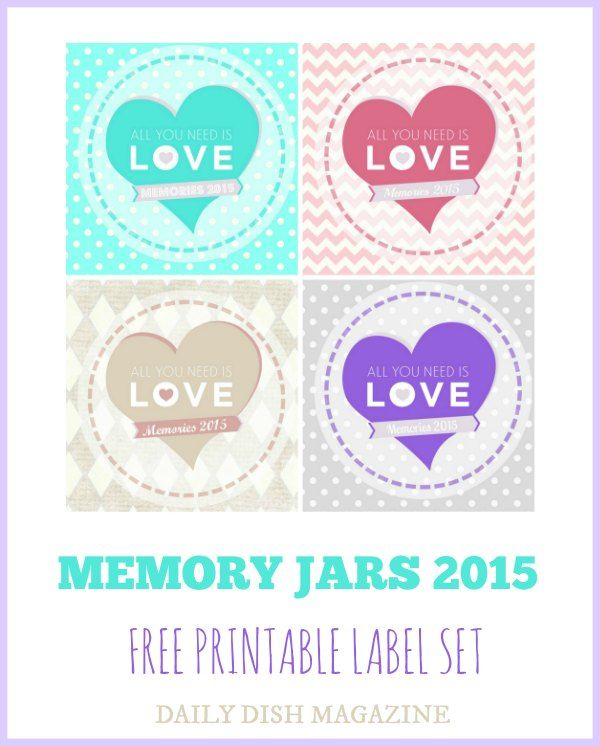 Making Memory Jars - Daily Dish Magazine Free Printable Label Set 2015