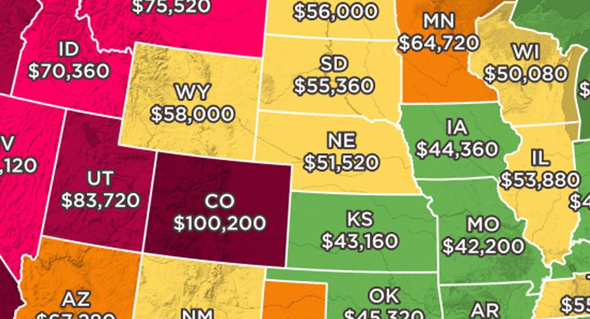 This Map Shows How Much You Need to Make to Afford the