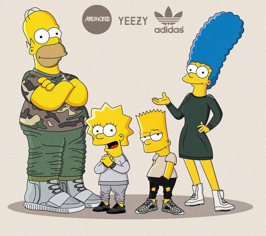 The Simpsons As Sneakerheads In Yeezy Boost In 2019 The