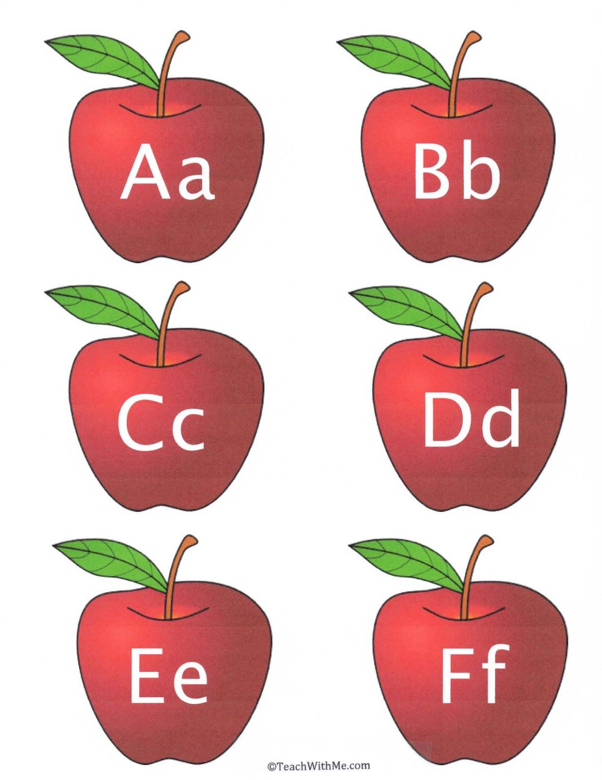 Apple Alphabet Cards With Images