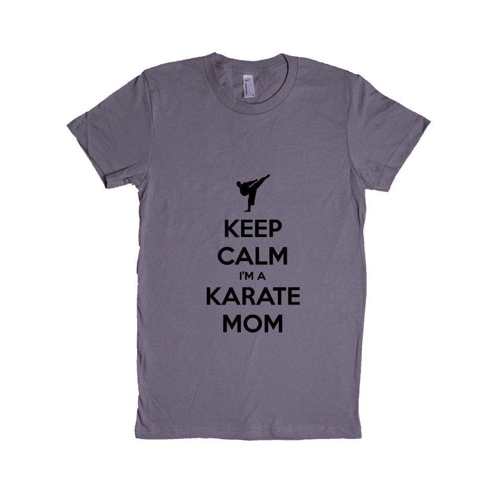 Keep Calm I'm A Karate Mom Mother Mothers Parents Sport Sport Sporty Parenting Children Kids Martial Arts SGAL6 Women's Shirt