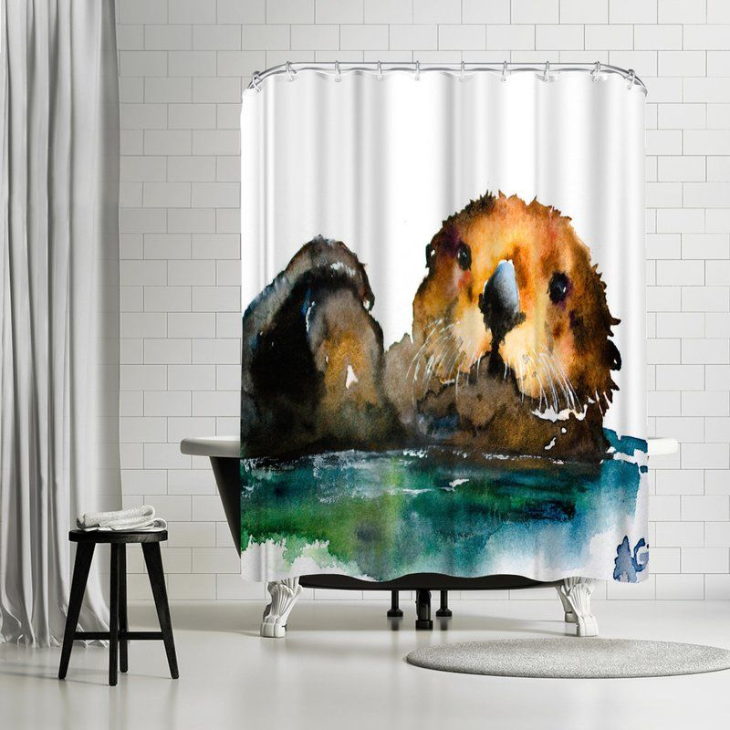 Allison Gray Otter Shower Curtain
