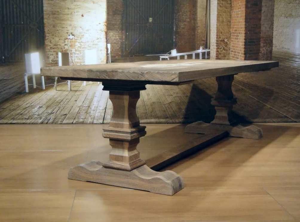 Eiken Salon Kloostertafel.Massief Eiken Kloostertafel Tressot Op Maat Gemaakt Rustic Table