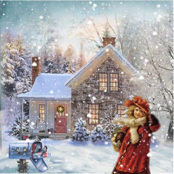 """""""Homeward Bound"""" by jennytee- wouldn't it be nice to have an """"old fashioned Christmas""""? One that is remembered for seeing old friends and visiting instead of what gift do I get Aunt Marge? I would really love that! Sharing a mug of hot cider.."""