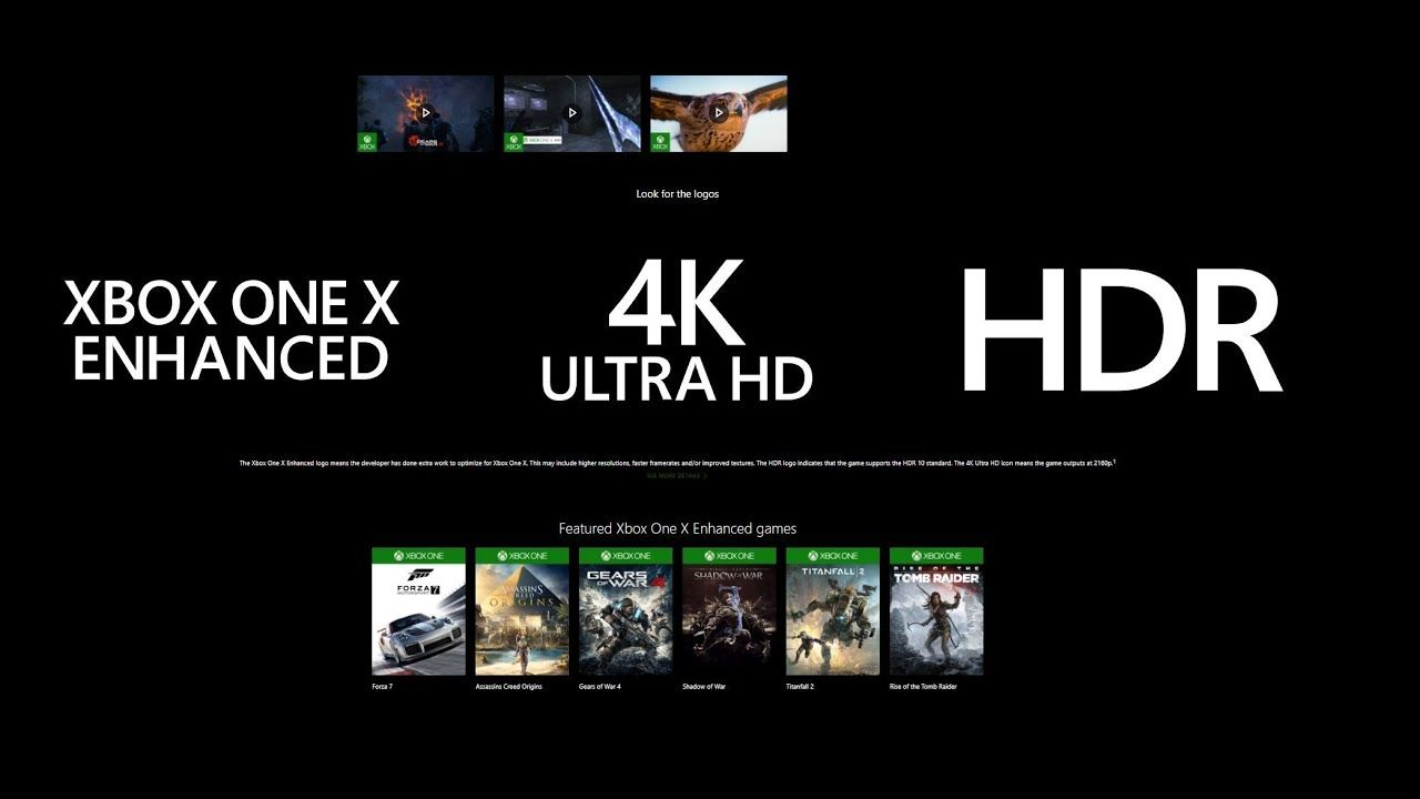 54 XBOX ONE X & 4K Games Available Already - XBOX ONE X 4K