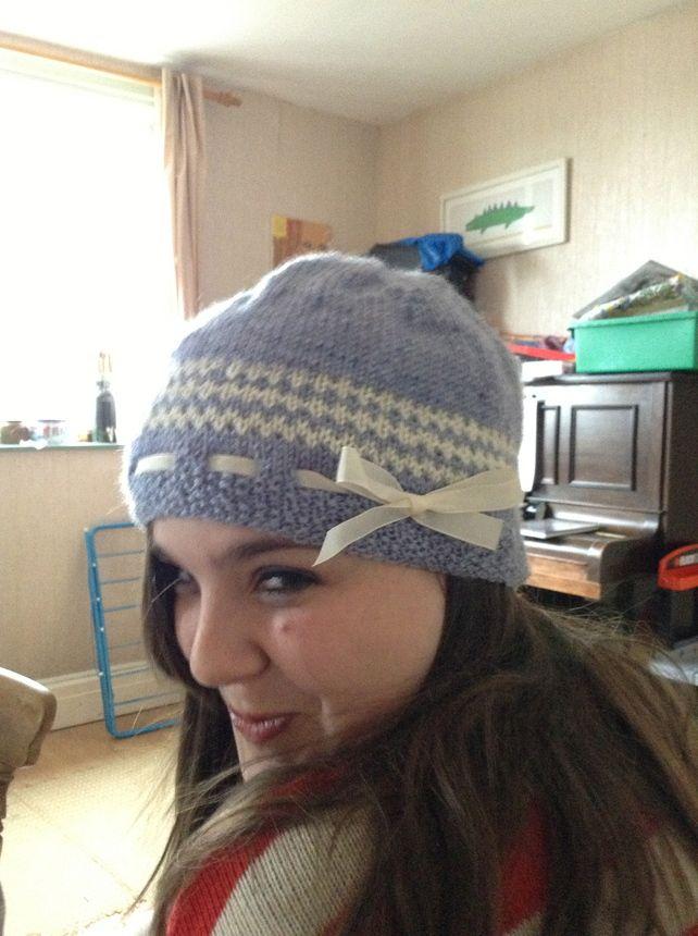 Jasmine PDF Knitting Pattern Hat - pretty hat with easy Fair Isle ...