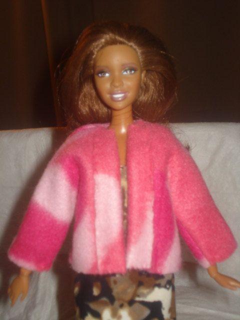 Pink camoflage print Fleece jacket for by KelleysKreationsLV, $6.95