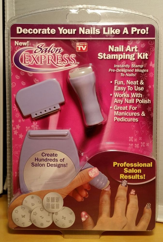 Salon Express Nail Art Stamping Kit - As Seen On TV - New Sealed ...