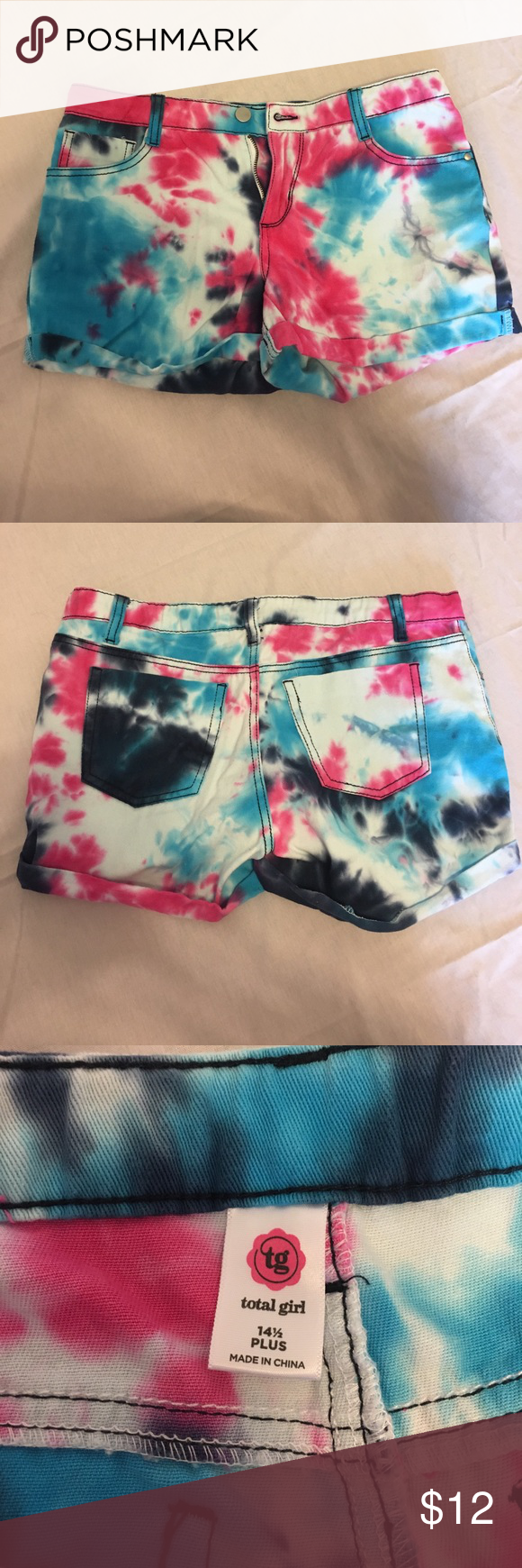 Tie dye shorts Tie dye shorts. Girls size 14.5 Bottoms Shorts