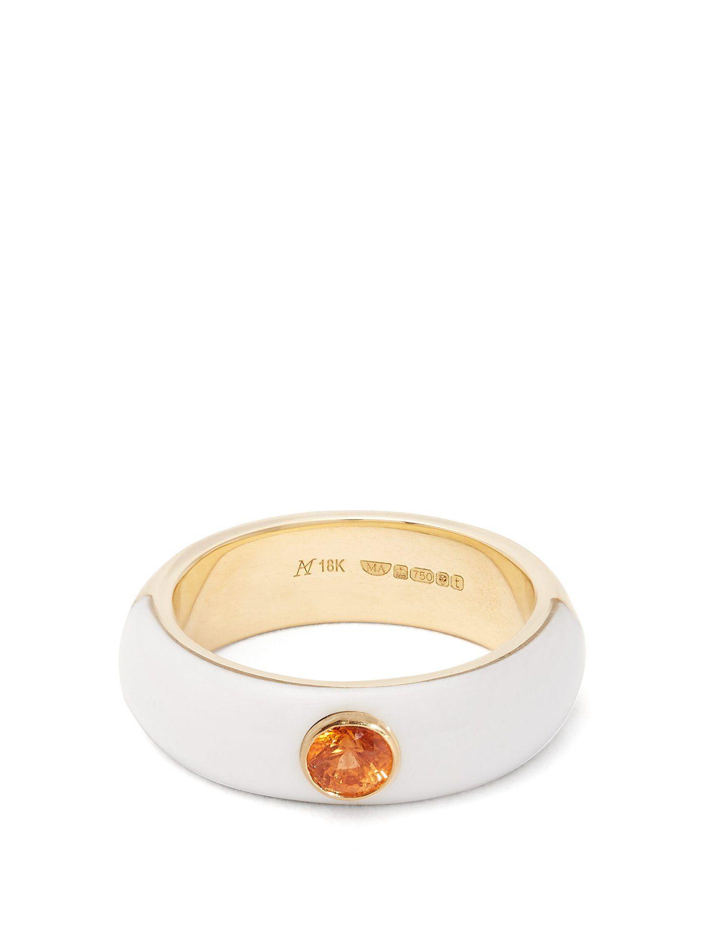 Marc Alary Belsa sapphire & 18kt gold ring 4R2NEN