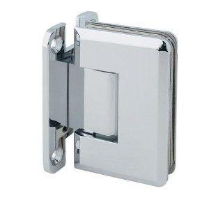 Mont Hard Wall Mount H Backplate Shower Door Hinge With Bevelled Edge By Rockwell 49 99 Mont Hard Heavy Gla Door Hinges Corner Shower Doors Door Accessories