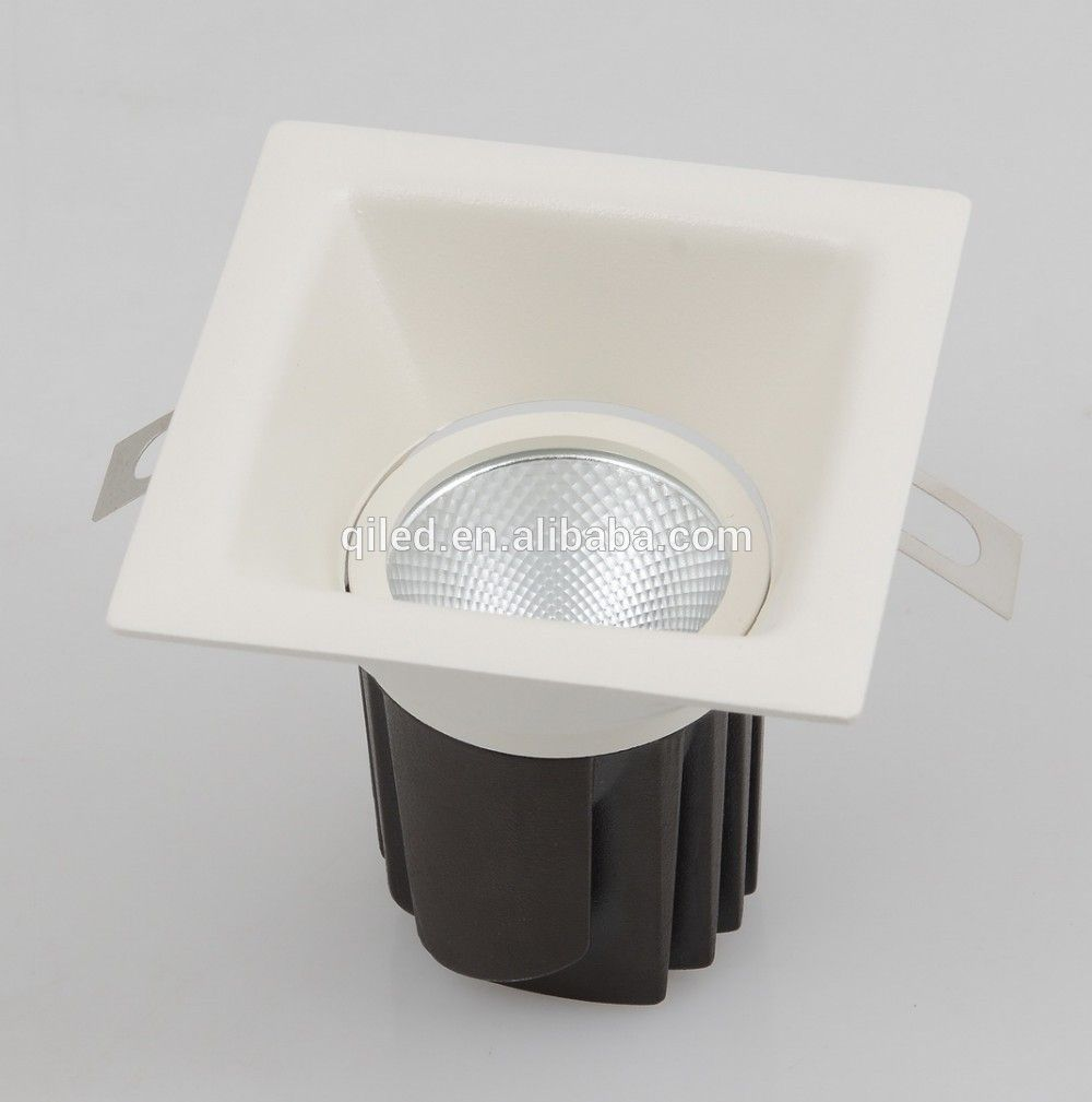 12 Watt Rectangular Anti Glare Cob Downlight Square Dimmable Cob Led Down Light Recessed Adjustable Cob Ceiling Light Led Down Lights Downlights Ceiling Lights