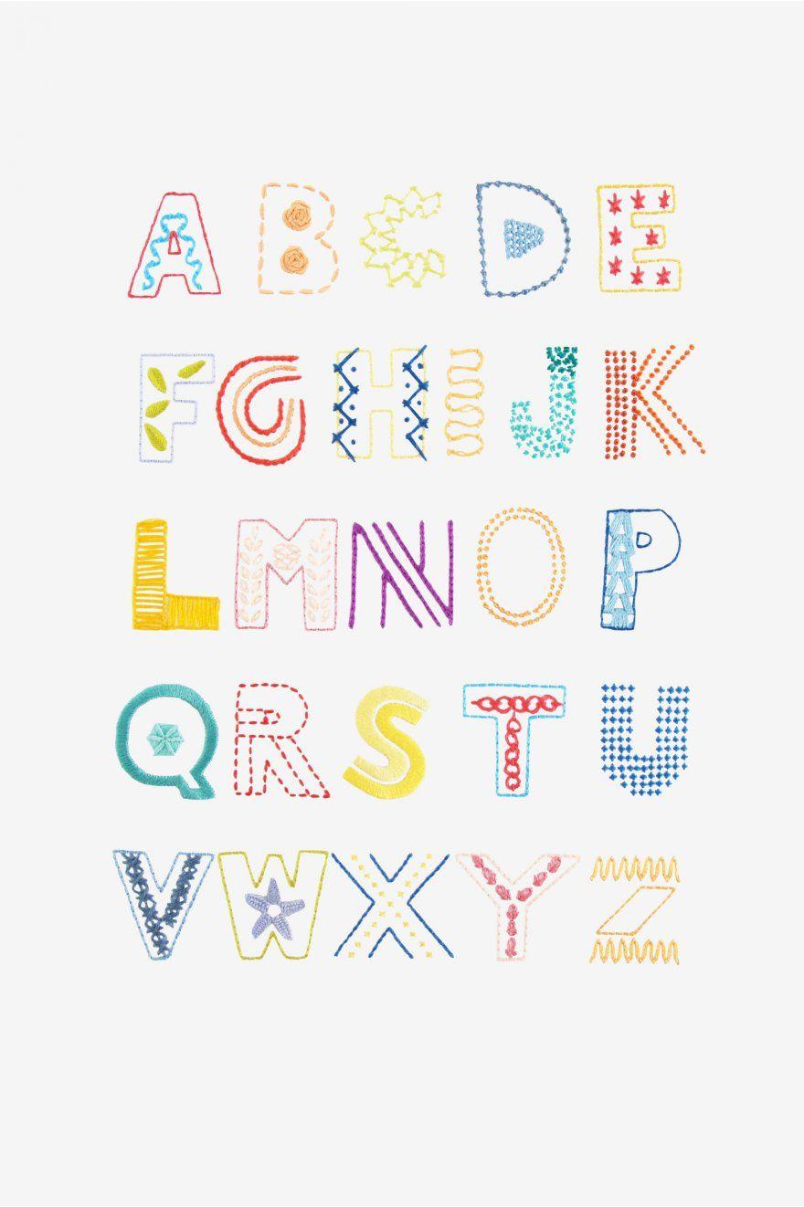 Alfabeto bordado | cross stitch | Pinterest | Bordado, Alfabeto ...