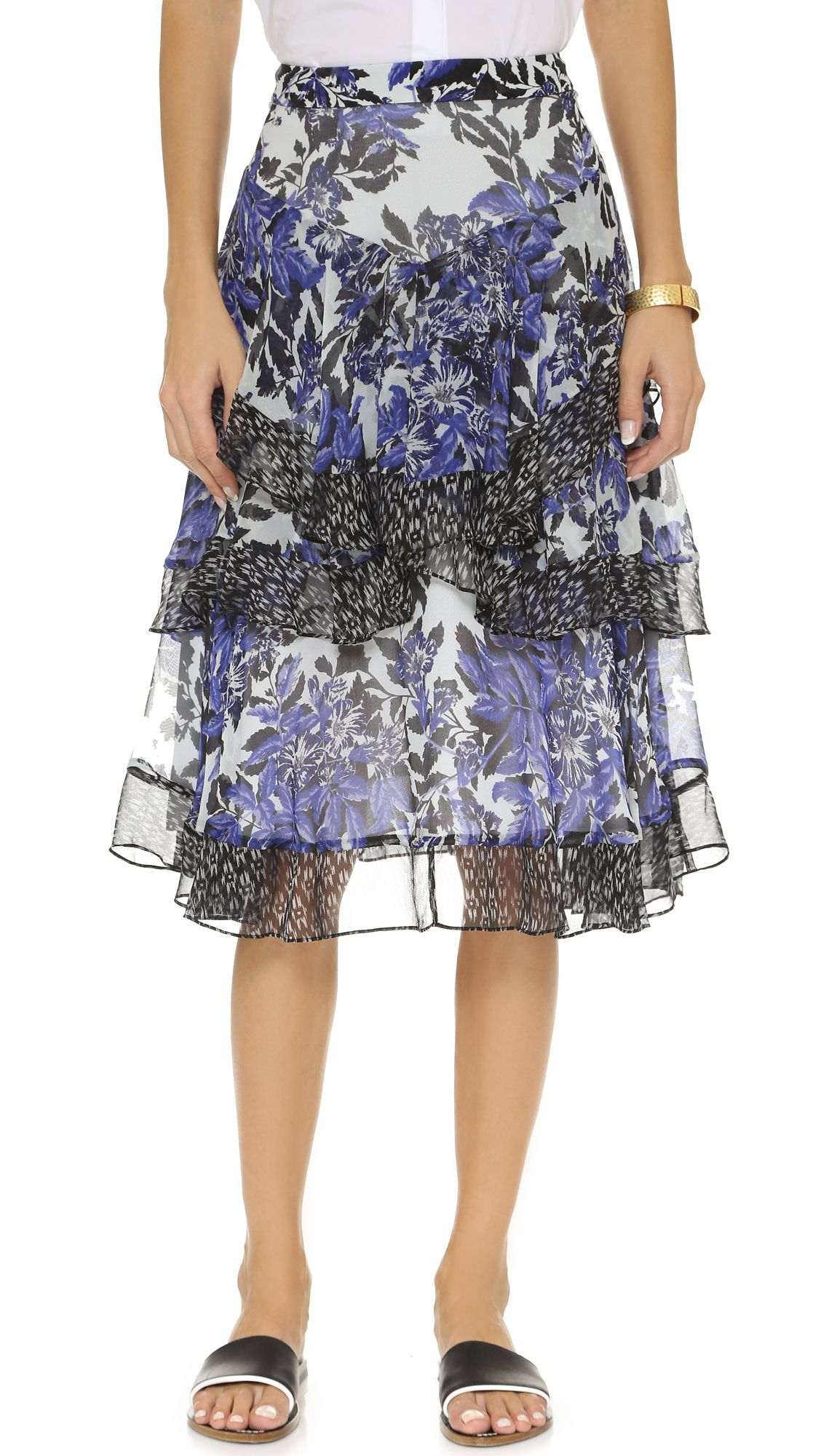 Rebecca Taylor Flame Combo Skirt http://www.modandretro.com/rebecca-taylor-flame-combo-skirt/