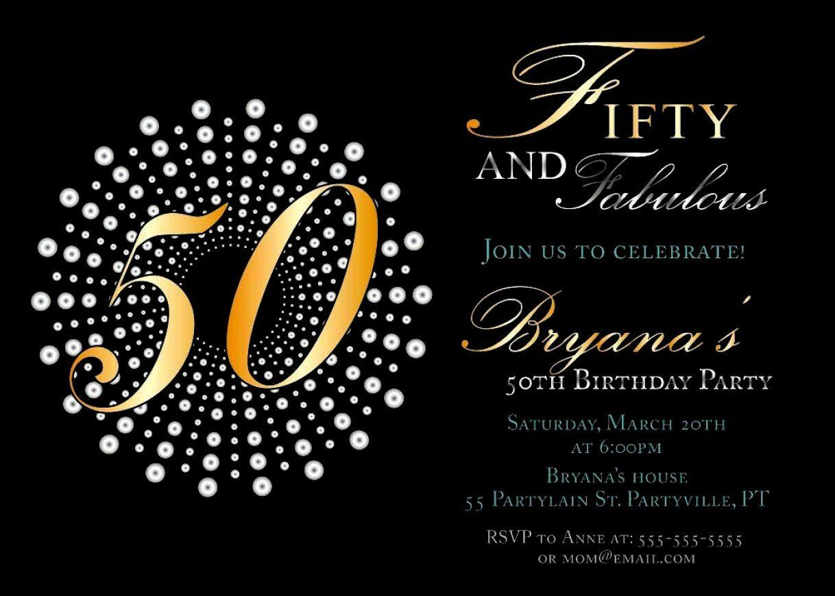 50th Birthday Party Invitation Wording 50 Year Old