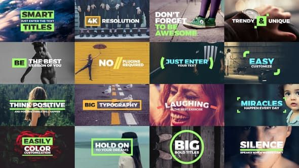 Fresh Titles - Auto-Resizing Animated Typography Text Pack by