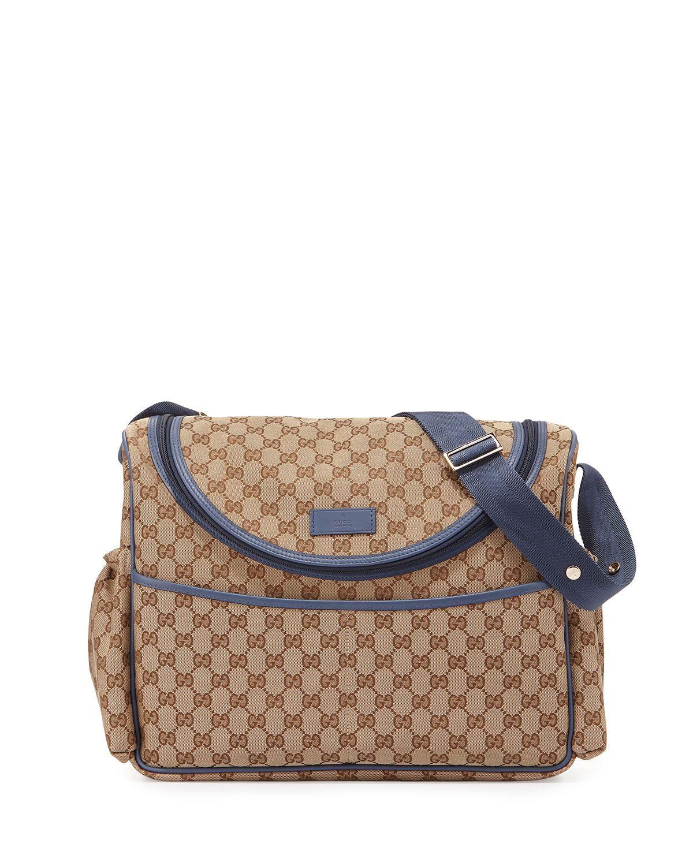 b963546da4a Travel Guccissima-Print Diaper Bag w  Changing Pad by Gucci at Neiman  Marcus.