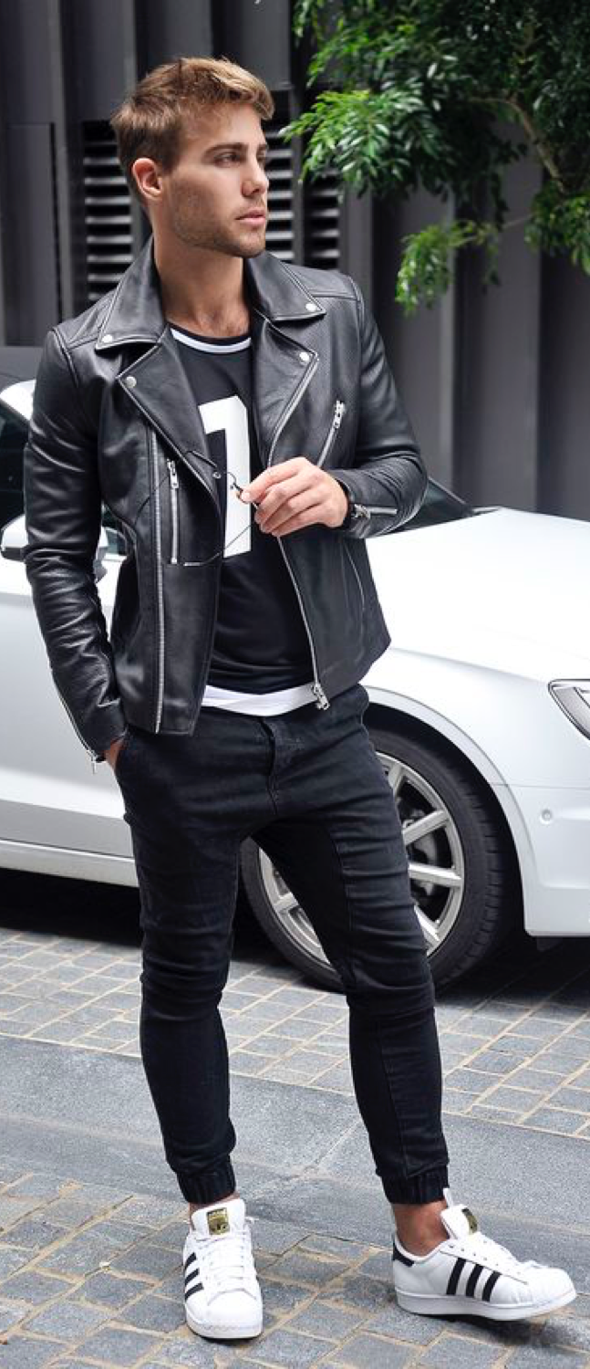 Leather For Oomph And Pizzazz! Follow Rickysturn/mens