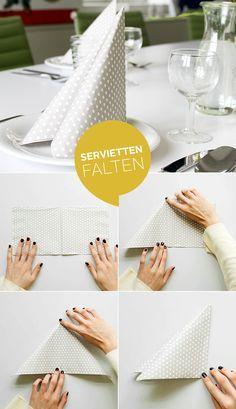 Servietten Falten 15 Anleitungen Und Videos Hochzeit Pinterest